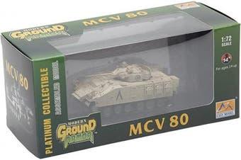 Easy Model 1:72 Scale MCV 80 Warrior 1st Bn, Staffordshire Regt 7th Armoured, Ir Model Kit