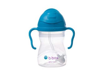 (Cobalt (Matte Lid)) - b.box Sippy Cup with Innovative Weighted Straw, Cobalt (Matte Lid)