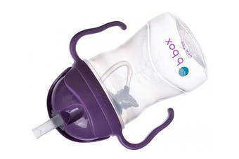 (Grape (Matte Lid)) - b.box Sippy Cup with Innovative Weighted Straw, Grape (Matte Lid)