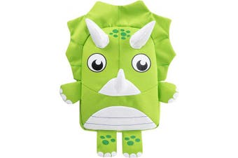 (Green) - Toddler Backpack Kids Dinosaur Backpack with Safety Leash for Baby Boys Girls (Green)