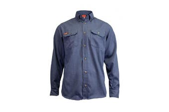 (4X-Large Long, Light Blue) - National Safety Apparel TCG01190232 Tecgen Select Fr Work Shirt, 4X-Large/Long, Light Blue