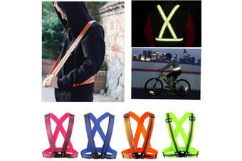 (Neon Orange) - Comidox Reflective Vest with Hi Vis Bands, Fully Adjustable & Multi-purpose: Running, Cycling, Motorcycle Safety, Dog Walking - High Visibility