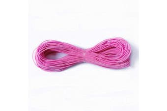 (1mm-Pink-20m) - Amaney 1 mm Pink Elastic Cord Beading Threads Stretch String Fabric Crafting Cords for Jewellery Making 20m