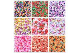 (Color C) - Fake Sprinkles - 10 Packs of Colourful Fake Candy Sweets Sugar Sprinkles Plus Storage Box Container DIY Slime Decoden Craft Supplies Assorted Colours(New)