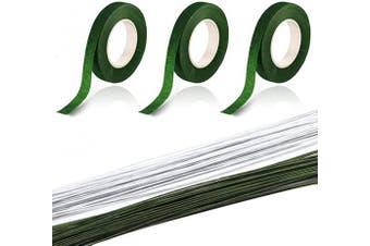 (36CM) - 22 Gauge Floral Stem Wire Floral Tape Stem Wrap Bouquet Stem Wrap Artificial Flowers for DIY Decoration and Crafts(100pcs)