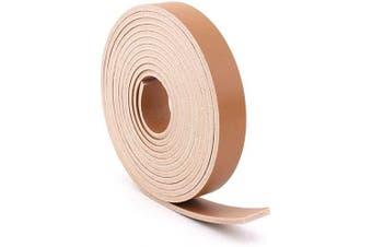 (1.3cm  x 180cm , Tan) - Double Sided Faux Leather Strip Crafts Strap (Tan, 1.3cm x 180cm )
