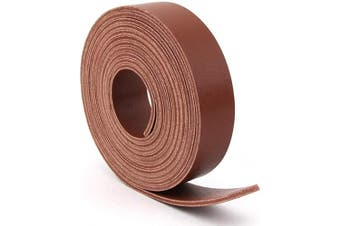 (1.9cm  x 180cm , Brown) - Double Sided Faux Leather Strip Crafts Strap (Brown, 1.9cm x 180cm )