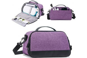 BGD-DG Carrying Case Compatible with Cricut Joy Machine, Cricut Joy Starter Tool Set, Fine Point Pen and Other Supplies, Compact and Portable, Dark Purple (Bag Only)