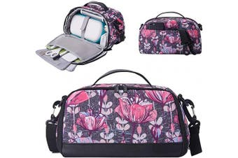 (Bag, Purple Flower) - BGD-DG Carrying Case Compatible with Cricut Joy Machine, Cricut Joy Starter Tool Set, Fine Point Pen and Other Supplies, Compact and Portable, Purple Flower (Bag Only)