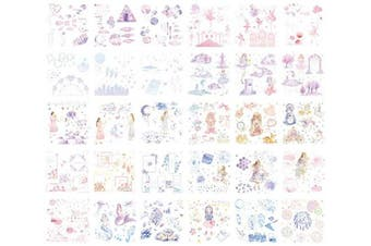 (Universe Girl-ts-ryxc) - 60 Sheets Stickers Set Free Cutting Scrapbooking Stickers for Journal Planner DIY Crafts Scrapbooking Embelishment Diary 30 Designs Each 2 Sheets (Universe Girl-ts-ryxc)