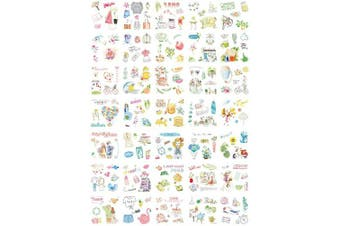 (Lmxqd-jy) - Stickers Set 100 Sheets Deco Stickers for Planner Journal DIY 50 Designs Each 2 Sheets (lmxqd-jy)