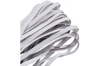 (20 Yard-1/4 inch 6 mm, White) - Elastic Band,1/4 Inch Width 20 Yards 6mm Flat Elastic Bands for Sewing Crafts DIY,Braided Elastic Cord,Elastic Rope,Heavy Stretch Knit Elastic Spool,White