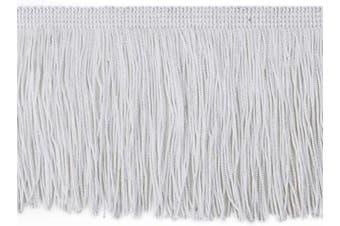 (6.8 Yard x 9.9cm , off white) - BEL AVENIR Tassel Chainette Fringe Trim 6.8 Yard x 9.9cm Polyester Lace Trim with Hand Knitting for Home Accessories DIY Decoration (Off White, 6.8 Yard x 9.9cm )