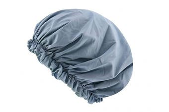 (Dusty Blue) - CEAJOO Womens Shower Cap Bonnet Sleep Hat with Elastic Band Dusty Blue