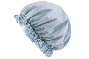(Pale Green) - CEAJOO Womens Shower Cap Bonnet Sleep Hat with Elastic Band Pale Green