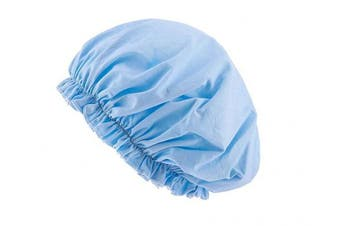 (Light Blue) - CEAJOO Womens Shower Cap Bonnet Sleep Hat with Elastic Band Light Blue