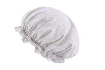 (Light Grey) - CEAJOO Womens Shower Cap Bonnet Sleep Hat with Elastic Band Light Grey