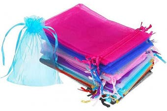 (7.6cm  X 10cm (200PCS), Mixed) - Boshen 100/200PCS Organza Gift Candy Sheer Bags Mesh Jewellery Pouches Drawstring Bulk for Wedding Party Favours Festival Christmas Valentine's Day 7.6cm x 10cm 10cm x 15cm 13cm x 18cm (7.6cm X 10cm (200PCS), Mixed)