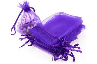 (7.6cm  X 10cm (100PCS), Purple) - Boshen 100/200PCS Organza Gift Candy Sheer Bags Mesh Jewellery Pouches Drawstring Bulk for Wedding Party Favours Christmas 7.6cm x 10cm 13cm x 18cm (7.6cm X 10cm (100PCS), Purple)