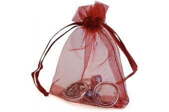 (10cm  X 15cm (100PCS), Red) - Boshen 100/200PCS Organza Gift Candy Sheer Bags Mesh Jewellery Pouches Drawstring Bulk for Wedding Party Favours Christmas 7.6cm x 10cm 10cm X 15cm 13cm x 18cm (10cm X 15cm (100PCS), Red)
