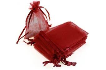 (7.6cm  X 10cm (100PCS), Red) - Boshen 100/200PCS Organza Gift Candy Sheer Bags Mesh Jewellery Pouches Drawstring Bulk for Wedding Party Favours Christmas 7.6cm x 10cm 13cm x 18cm (7.6cm X 10cm (100PCS), Red)
