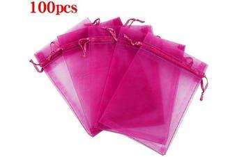 (13cm  X 18cm (100PCS), Hot Pink) - Boshen 100/200PCS Organza Gift Candy Sheer Bags Mesh Jewellery Pouches Drawstring Bulk for Wedding Party Favours Christmas 7.6cm x 10cm 13cm x 18cm (13cm X 18cm (100PCS), Hot Pink)