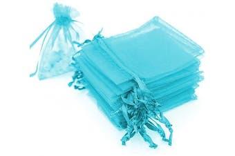 (7.6cm  X 10cm (100PCS), Teal Blue) - Boshen 100/200PCS Organza Gift Candy Sheer Bags Mesh Jewellery Pouches Drawstring Bulk for Wedding Party Favours Christmas 7.6cm x 10cm 13cm x 18cm (7.6cm X 10cm (100PCS), Teal Blue)