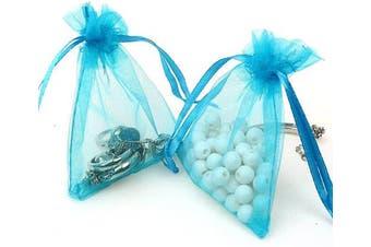 (10cm  X 15cm (100PCS), Teal Blue) - Boshen 100/200PCS Organza Gift Candy Sheer Bags Mesh Jewellery Pouches Drawstring Bulk for Wedding Party Favours Christmas 7.6cm x 10cm 10cm X 15cm 13cm x 18cm (10cm X 15cm (100PCS), Teal Blue)