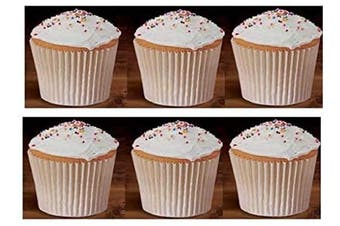 (250 White Bulk) - 250 White Bulk Large Jumbo Texas Muffin/Cupcake Cups White flutted Cupcake Liners Baking Cups