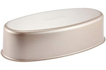 (20cm  Oval) - CHEFMADE Ellipse Cheese Cake Pan, 20cm Non-Stick Oval Cake Bread and Meat Bakeware for Oven and Instant Pot Baking (Champagne Gold)