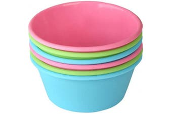 (Multicolor) - Bakerpan Silicone Mini Cake Pan, Large Muffin Cup, 8.9cm Baking Cups, Set of 6