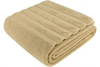 (90cm  x 180cm  Jumbo Bath Towel, Sand Taupe) - American Soft Linen 100% Ringspun Genuine Cotton Large, Turkish Jumbo Bath Towel 35x70 Premium & Luxury Towels for Bathroom, Maximum Softness & Absorbent Bath Sheet [Worth $34.95] - Sand Taupe
