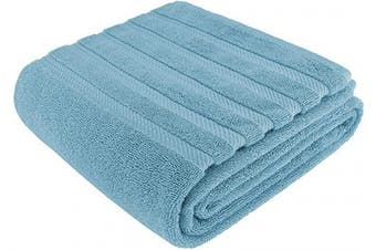 (90cm  x 180cm  Jumbo Bath Towel, Baby Blue) - American Soft Linen 100% Ringspun Genuine Cotton Large, Turkish Jumbo Bath Towel 35x70 Premium & Luxury Towels for Bathroom, Maximum Softness & Absorbent Bath Sheet [Worth $34.95] - Baby Blue