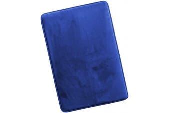 (Large, Royal Blue) - Clara Clark Memory Foam Bath Mat Ultra Soft Non Slip and Absorbent Bathroom Rug, Large, Royal Blue