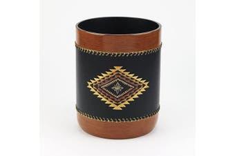 (Waste Basket) - Avanti Linens Mojave, Black