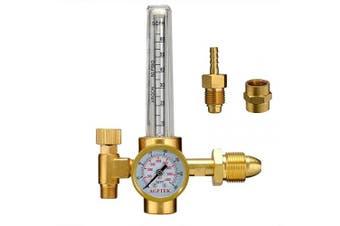 (HF43U) - AGPTEK Mig/Tig Flow Metre Regulator, CO2 Argon Pressure Reducer Gauge Weld Flowmeter - Full Copper - 10 to 60 cfh