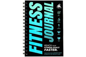 (Ocean Blue) - Clever Fox Fitness & Workout Journal/Planner Daily Exercise Log Book to Track Your Lifts, Cardio, Body Weight Tracker - Spiral-Bound, Laminated Cover, Thick Pages, A5