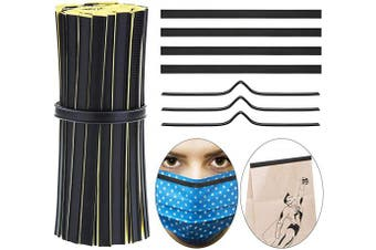 150 Pieces Self-Adhesive Bag Tin Ties Peel and Stick Tin Ties Black Bag Sealing Strip Tie for Bags Packaging Decoration Storage