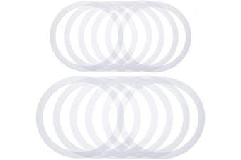 50 Pieces Mason Jar Sealing Rings Gaskets Airtight Silicone Gaskets Replacement Silicone Jar Seals Compatible with Mason Jar Lids, Wide Mouth and Regular Mouth
