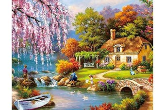 (Forest Lodge 11.8 in X 17.7) - 1000 Piece Puzzles Jigsaw Puzzle for Adults or Kids - Landscape Puzzles Toy 30cm x 42cm