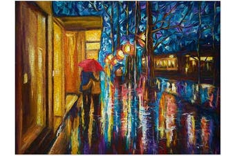 (Love in The Rain) - Americanflat 500 Piece Jigsaw Puzzle, 46cm x 60cm , Love in The Rain Art by Olena Art
