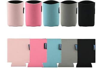 (Color#1) - Bluecell 10pcs Standard 350ml Beer Can Sleeves Blank Neoprene Insulated Beer Can Coolers, Premium Quality Soft Drink Collapsible Insulators (Colour#1)