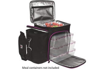 (Black/Purple Bag Only) - Meal Prep Lunch Box - Cooler Bag (Black/Purple Bag Only)