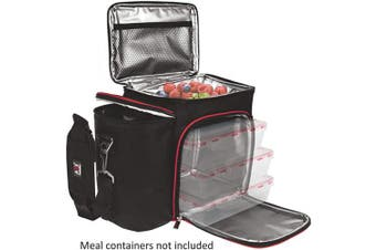 (Black/Red Bag Only) - Meal Prep Lunch Box - Cooler Bag (Black/Red Bag Only)