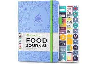 (A5 (15cm  x 21cm ), Light Blue) - Clever Fox Food Journal - Daily Food Diary, Meal Planner to Track Calorie and Nutrient Intake, Stick to a Healthy Diet & Achieve Weight Loss Goals