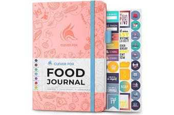 (A5 (15cm  x 21cm ), Light Pink) - Clever Fox Food Journal - Daily Food Diary, Meal Planner to Track Calorie and Nutrient Intake, Stick to a Healthy Diet & Achieve Weight Loss Goals