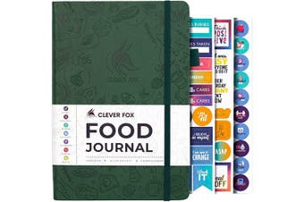 (A5 (15cm  x 21cm ), Forest Green) - Clever Fox Food Journal - Daily Food Diary, Meal Planner to Track Calorie and Nutrient Intake, Stick to a Healthy Diet & Achieve Weight Loss Goals