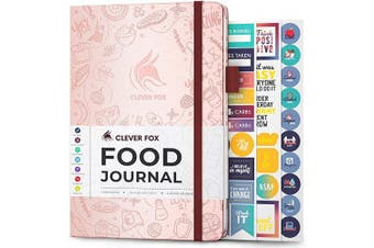 (A5 (15cm  x 21cm ), Rose Gold) - Clever Fox Food Journal - Daily Food Diary, Meal Planner to Track Calorie and Nutrient Intake, Stick to a Healthy Diet & Achieve Weight Loss Goals