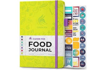 (A5 (15cm  x 21cm ), Neon Yellow) - Clever Fox Food Journal - Daily Food Diary, Meal Planner to Track Calorie and Nutrient Intake, Stick to a Healthy Diet & Achieve Weight Loss Goals