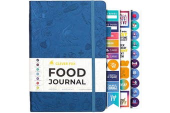 (A5 (15cm  x 21cm ), Mystic Blue) - Clever Fox Food Journal - Daily Food Diary, Meal Planner to Track Calorie and Nutrient Intake, Stick to a Healthy Diet & Achieve Weight Loss Goals